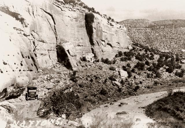 Original road through the Narrows.